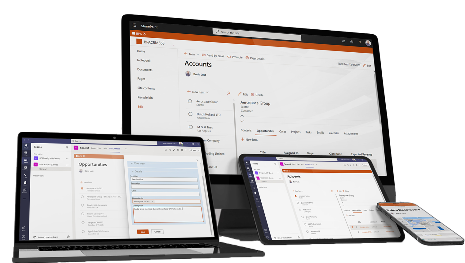 Modern CRM for Everyone on any Device, Anywhere.
